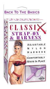 Classix Strap-On & Harness - Purple
