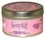 Foreplay Strawberries and Champagne 4 oz Soy Massage Candle