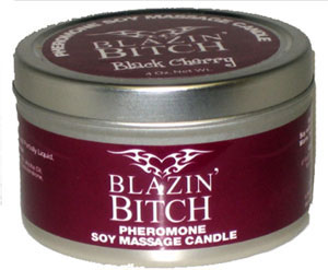 Blazin' Bitch Black Cherry 4 oz Soy Massage Candle