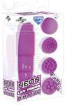 Neon Luv Touch Mini Mite Waterproof - 4 Interchangeable Heads Purple