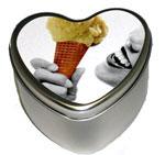Vanilla Edible Heart Candle 4.7 oz.