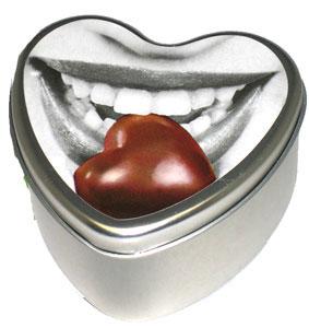 Chocolate Edible Heart Candle 4 oz.