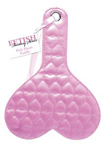Fetish Fantasy Quilted Heart Paddle - Pink