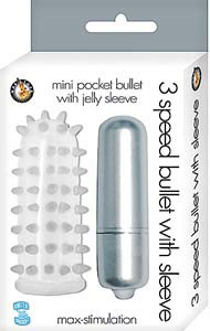 3 Speed Bullet with Sleeve - Silver