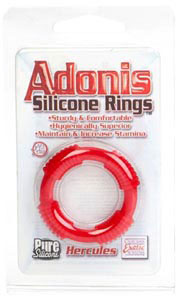 Adonis Silicone Rings Hercules-  Red