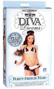 Vac-U-Lock Diva Dreams Flirty French Maid Plus Size