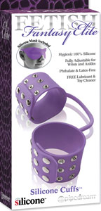 Fetish Fantasy Elite Silicone Cuffs - Purple