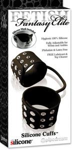 Fetish Fantasy Elite Silicone Cuffs - Black