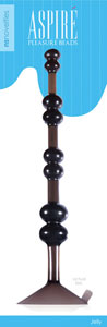 Ns Novelties Aspire Pleasure Beads - Charcoal
