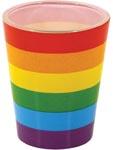 Rainbow Wrapped Shot Glass