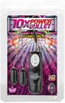 10x Dual Power Bullet - Short N Sweet 10 Function - Black