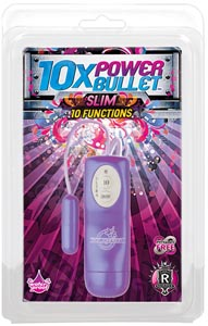 10x Power Bullet - Slim 10 Function - Purple