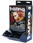 Hung Anal Lube 10ml Pillow Pack - Display Of 50