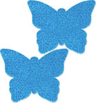 Playful Pasties Butterfly Awesome Aqua Glitter O/S