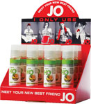 System JO H2o Flavored Lubricant 1 Oz Pineapple Display Of 12
