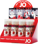 System JO H2o Flavored Lubricant 1 Oz Raspberry - Display Of 12