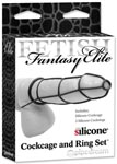 Fetish Fantasy Elite Cockcage and Ring Set - Black