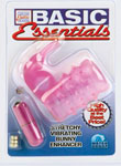Basic Essentials Stretchy Vibrating Bunny Enhancer - Pink