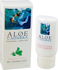 Aloe Cadabra Organic Lubricant - Peppermint Tingle 2.5 Oz Bottle