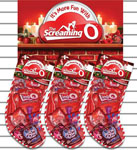 Screaming O Sexy Holiday Stocking Slat Wall Mantle Display Of 6