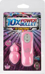 10x Power Bullet - 10 Function - Pink