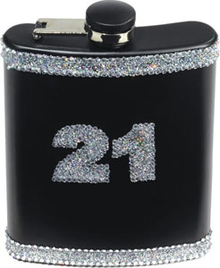 21 Birthday Flask