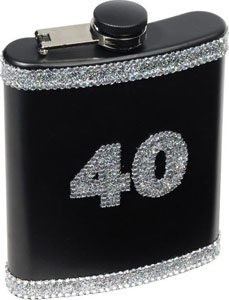 40 Birthday Flask