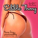 Edible Thong - Chocolate and Strawberry