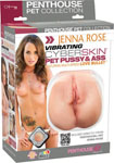 Penthouse Pet Collection Jenna Rose Vibrating Cyberskin Pet Pussy & Ass