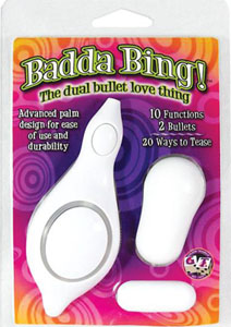 Badda Bing Dual Bullet Love Thing - White