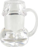 Bachelorette Party Favors Pecker Beer Mug - Clear