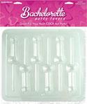 Bachelorette Party Favors Pecker Lollipop Mold - Clear
