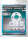Blush Stay Hard Vibrating Bull Ring Cock Ring - Clear