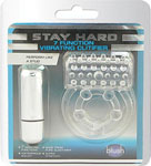 Blush Stay Hard Vibrating Clit Flicker Cock Ring - Clear