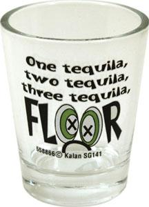 1 Tequilla 2 Tequilla 3 Tequilla Floor Shot Glass