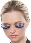 Blue & Black Curled Eyelashes