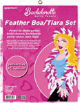 Bachelorette Party Favors Feather Boa & Tiara Set