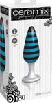 Ceramix Pleasure Pottery Temperature Play Plug No. 2 - Black/Blue