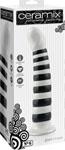 Ceramix Pleasure Pottery Temperature Play Strap On Compatable Dildo No. 6 - White/Black
