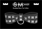 Sex & Mischief- Studded Bow Tie Collar