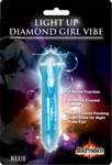 Diamond Girl Light Up Pleasure Vibe - Blue