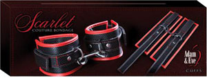 Adam & Eve Scarlet Couture Bondage Cuffs
