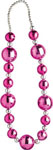 Bachelorette Outta Control Jumbo 42 In. Graduated Beads - Pink/Silver