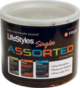 Lifestyles Assorted Condom - Display Of 40