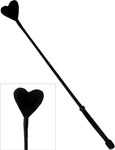 Ruff Doggie Fluffy Heart Crop - Black