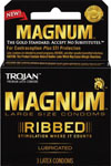 Trojan Magnum Ribbed Condoms - Box Of 3