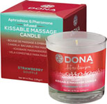 Dona Kissable Massage Candle - 4.75 Oz Stawberry Souffle