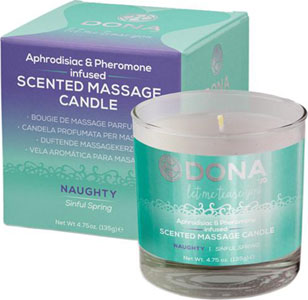 Dona Scented Massage Candle Naughty - 4.75 Oz Sinful Spring