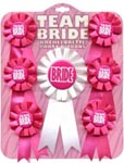Team Bride Rosette Ribbon Set