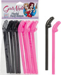 Girls Night Playful Party Straws - 10 Pack